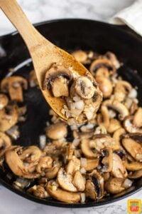 Sauteed Mushrooms In Cast Iron Skillet #SundaySupper