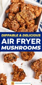 Save our Air Fryer Mushrooms on Pinterest!