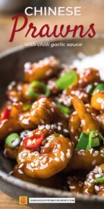 Pin this Chinese Prawns Recipe to save for Later!