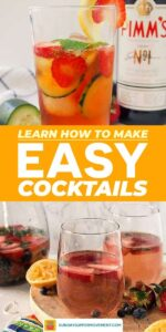 Pin our Simple Mixed Drinks to save for later!