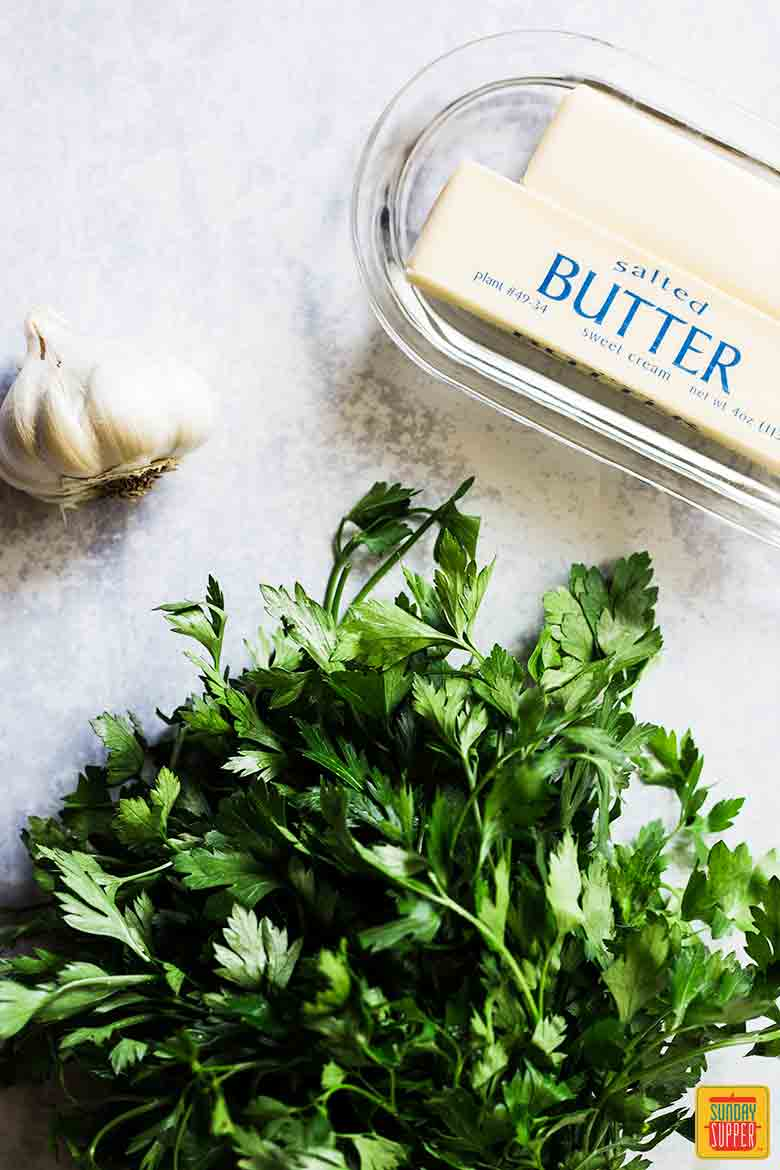 Ingredients for Garlic Butter Recipe