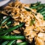 green bean almondine pin image