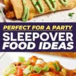 Save these sleepover food ideas for later!