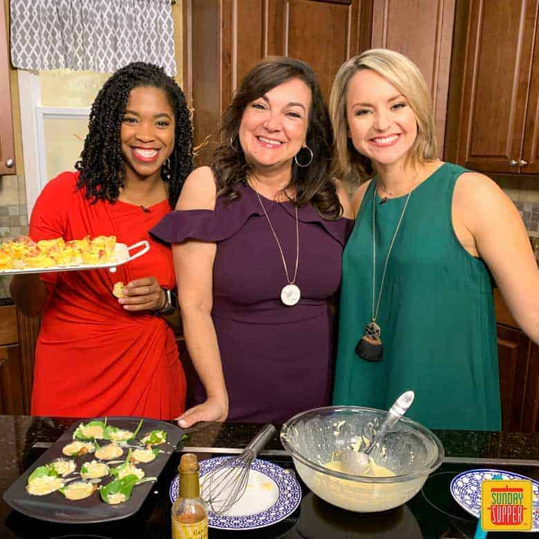Family Foodie Isabel with Starbucks Egg Bites and hosts of WTSP