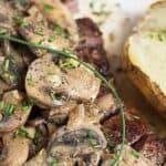 Save Steak Diane Recipe on Pinterest for later!