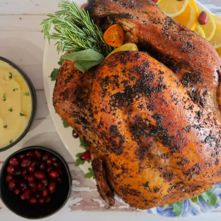 grilled turkey with mashed potatoes and cranberries for party food buffet ideas
