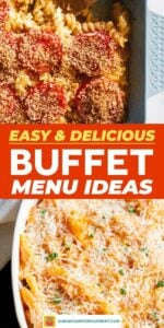 Save buffet menu ideas on Pinterest for later!