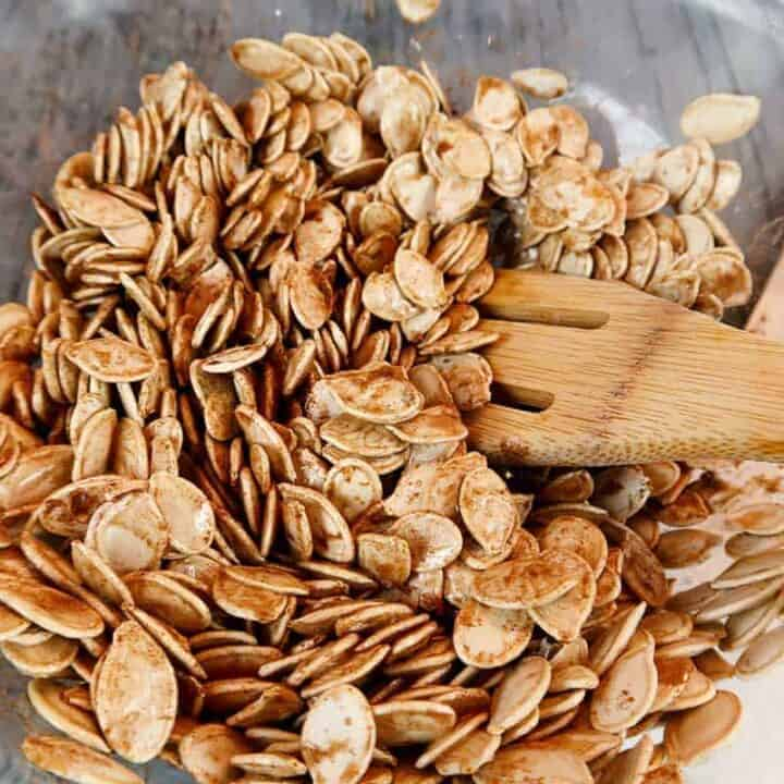 Sweet roasted pumpkin seeds