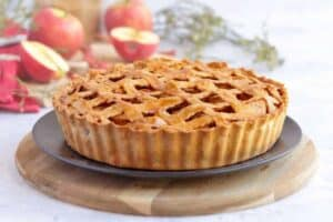 Apple Pie on a plate to be served