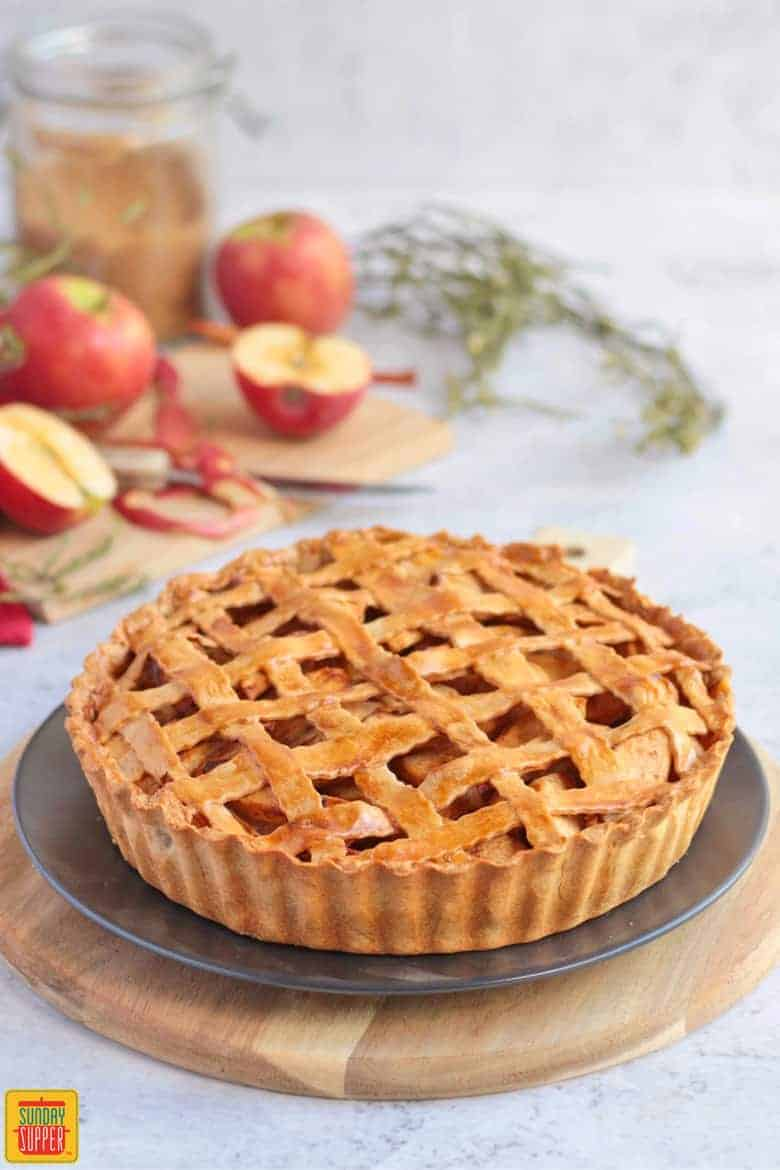 Warm Apple Pie on a plate