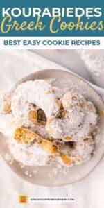 best easy cookie recipes pin image - greek wedding cookies