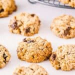 best easy cookie recipes pin image - oatmeal raisin cookies