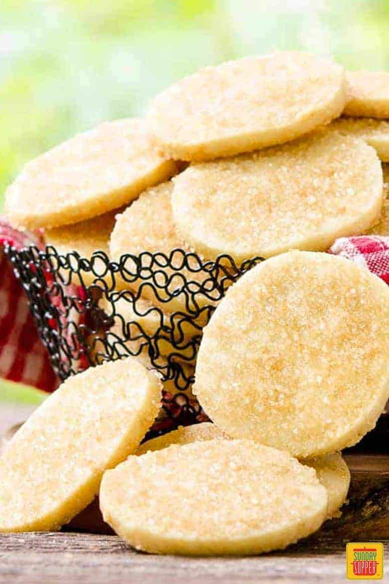 Best easy cookie recipes: Classic sugar cookies in a basket