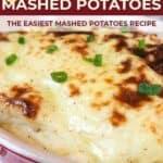 Creamy mashed potatoes pin image