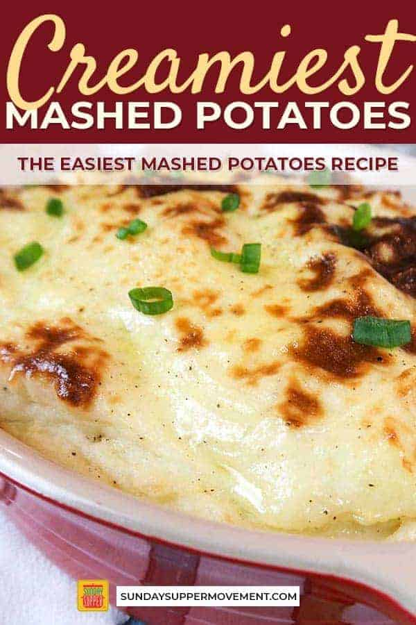 Get ready to try the best mashed potatoes recipe EVER! Serve a plate with these mashed potatoes, and everyone is guaranteed to ask you for your tips on how to make the creamiest mashed potatoes. Our guide on how to make creamy mashed potatoes results in the best mashed potatoes that are SO creamy and flavorful, you will want to make them for every occasion! #SundaySupper #howto #mashedpotatoes #creamymashedpotatoes #mashedpotatoesrecipe #potatoes #easyrecipes #dinners #sidedishes #recipes