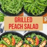 Grilled Peaches Salad pin image