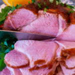 Honey glazed ham Pin image