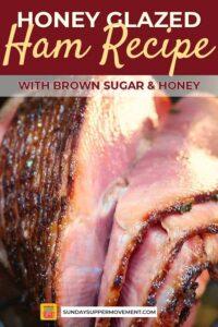 Honey glazed ham pin image
