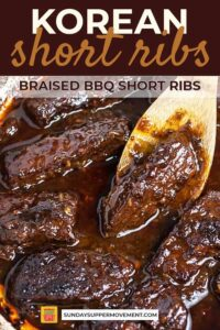 Korean short ribs pin image