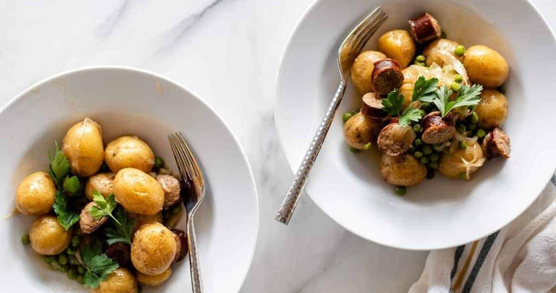 smothered potatoes and sausage