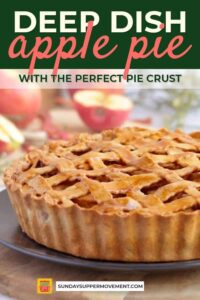 Deep dish apple pie pin image