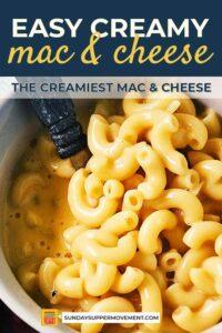 easy mac & cheese pin image