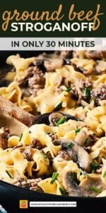 ground beef stroganoff recipe pin