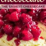 instant pot cheesecake pin image