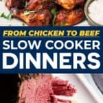 slow cooker dinners pin image