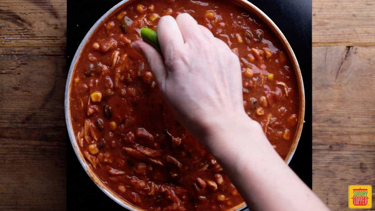 Adding lime to Mexican chili recipe