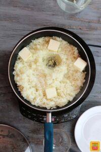 Stirring in 4 Tbsp. butter