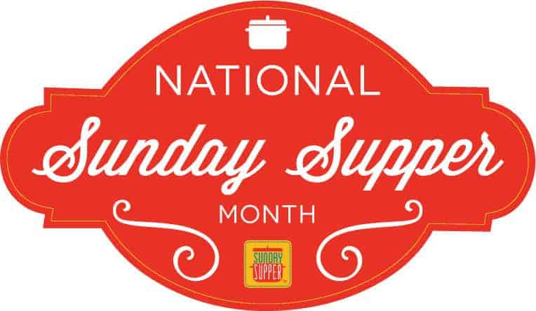 national Sunday Supper month red banner logo