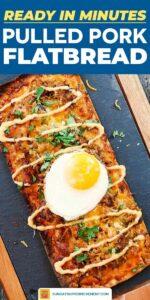 Pulled pork pizza flatbread pin image