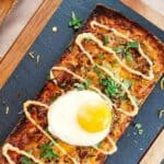 Pulled pork pizza flatbread pin image