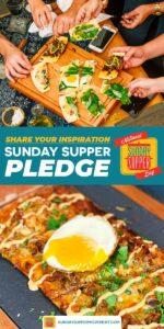 Sunday Supper Pledge Pin Image