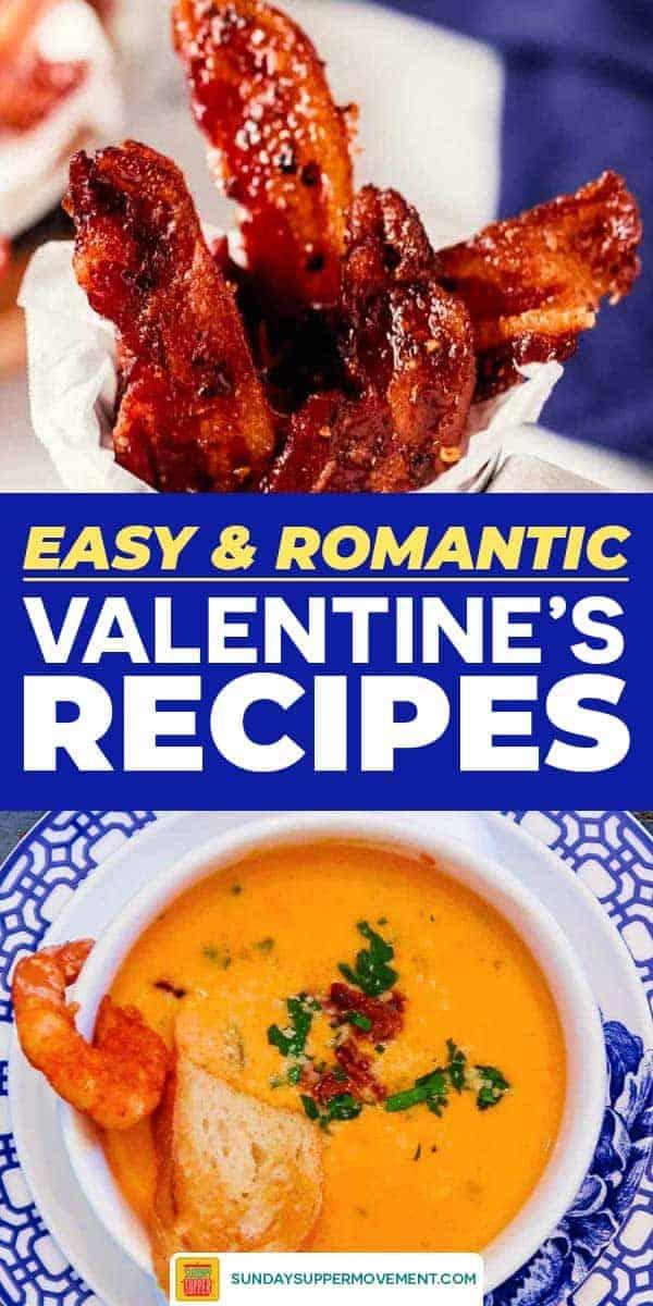 Save Valentine's Dinner Ideas on Pinterest for later!