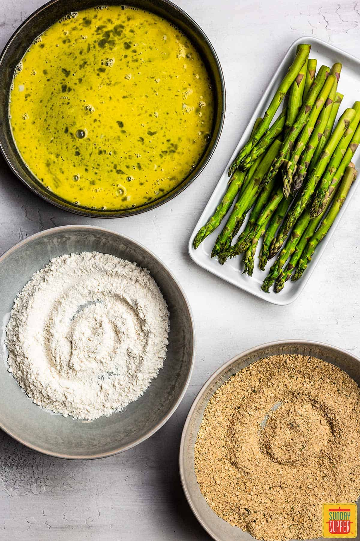 Ingredients for air fryer asparagus