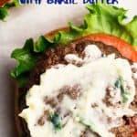 Air fryer burger pin image