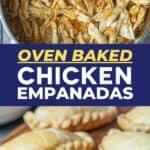 Chicken Empanada Recipe pin image
