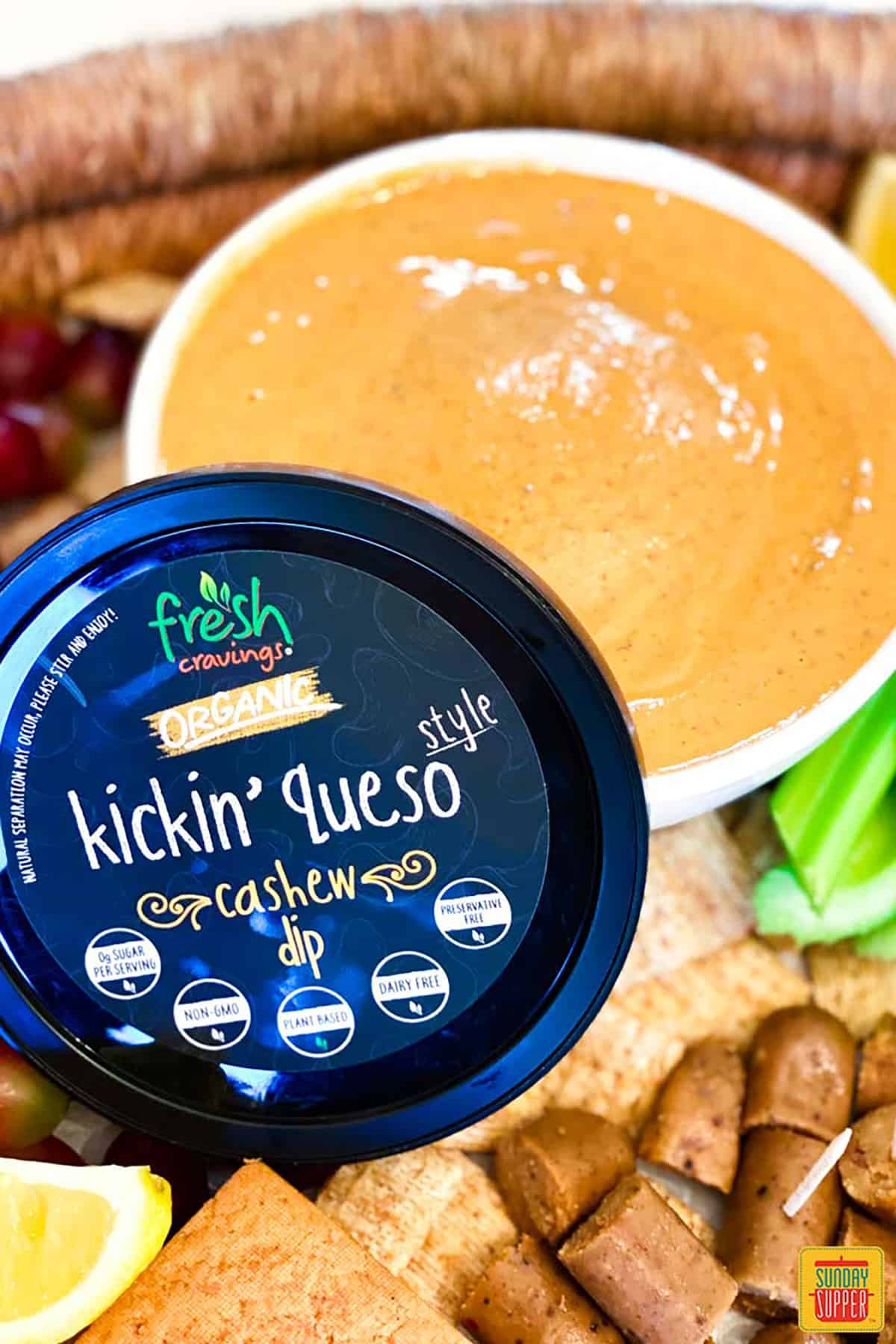 Kickin' queso dip from Fresh Cravings
