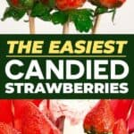 Candied strawberries recipe pin