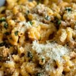 Close up of pink pasta
