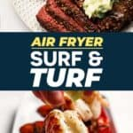 Air Fryer Surf and Turf Recipe Pin