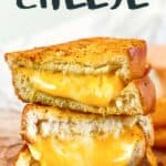 Air Fryer Grilled Cheese pin image