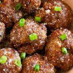air fryer meatballs pin image