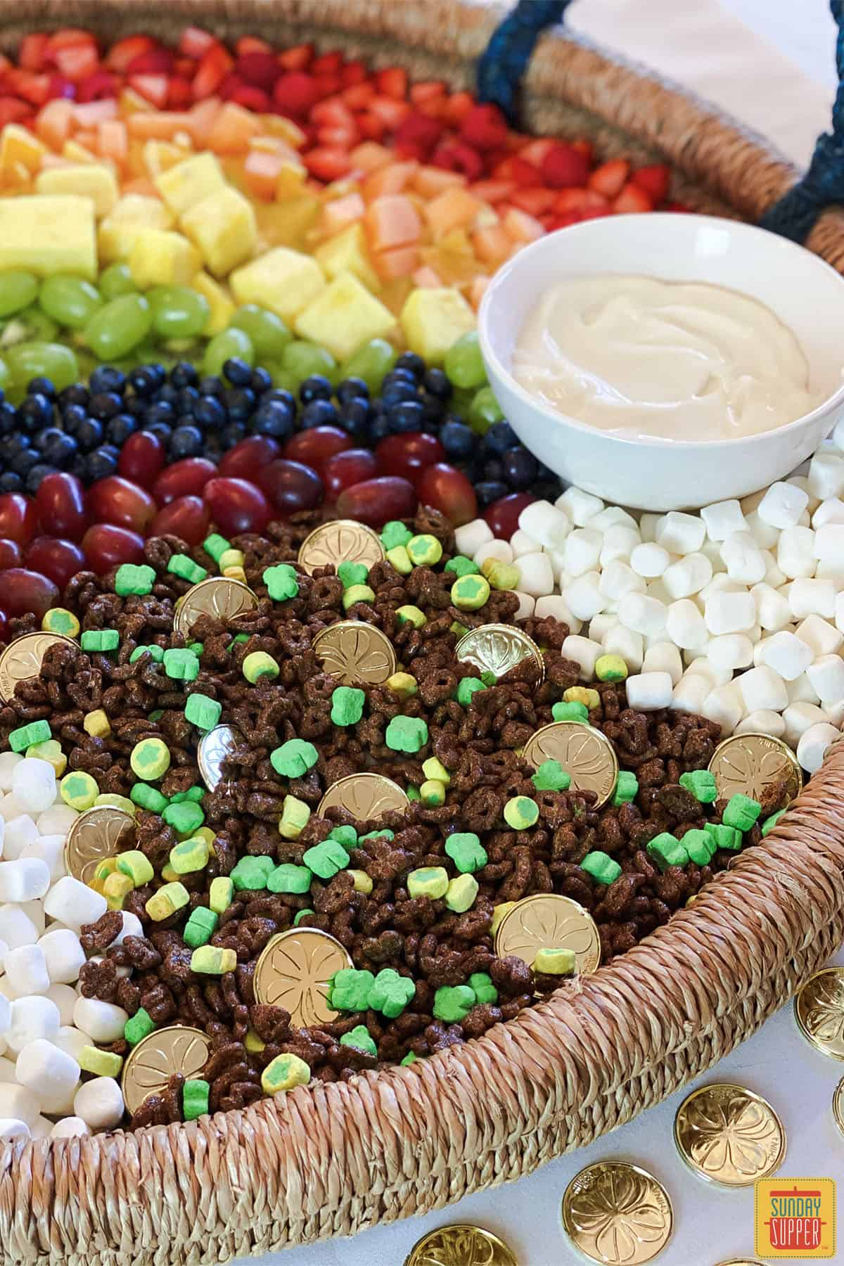 Close up of fruit charcuterie tray