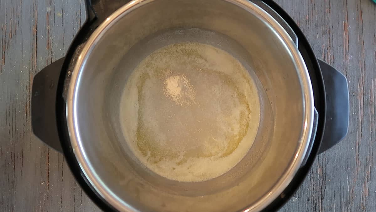 Melting butter in Instant Pot