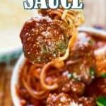 Best Meatball Sauce Recipe pin image