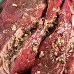 grilled chuck steak with garlic butter pin image