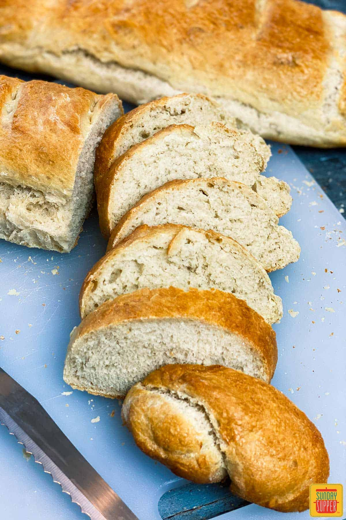 How to make french bread - A loaf of homemade french bread cut into slices